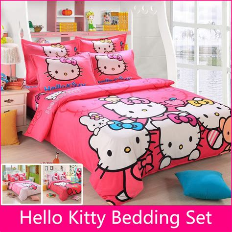 hello kitty bed sets brand logo hello kitty bedding set children cotton bed