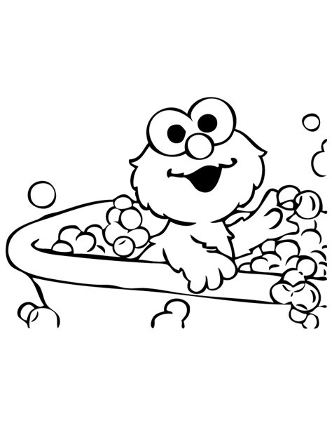 baby elmo takes bath coloring page h m coloring pages