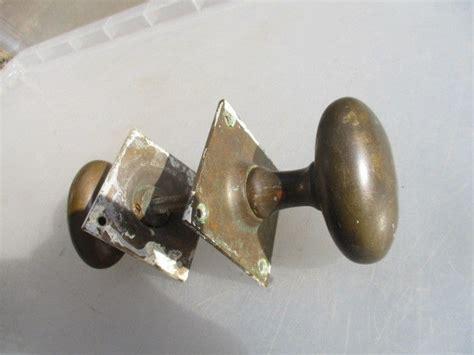 Architectural Door Knobs by Antique Bronze Door Knobs Handles Architectural Salvage Vintage Oval Square Ebay
