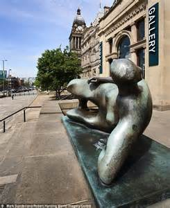 henry moore reclining woman iconic henry moore sculpture removed from leeds art