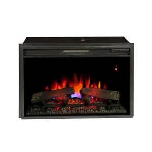 26 in electric fireplace insert with flush mount trim kit