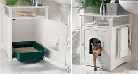 Washroom Cabinet Cat Litter Box Furniture Litter Box Covers For Cats