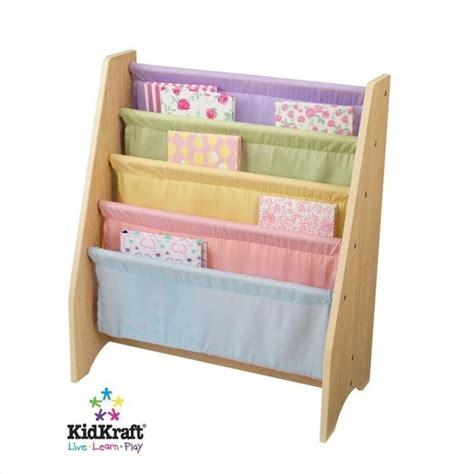 kidkraft pastel sling bookshelf 14225