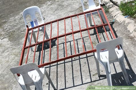 How To Paint A Metal Bed Frame How To Paint A Metal Bed Frame With Pictures Wikihow