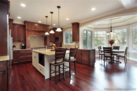 dark wood kitchen island pictures of kitchens traditional dark wood kitchens