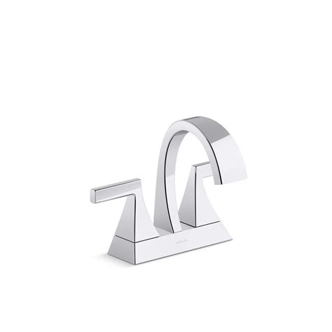 kohler katun 4 in centerset 2 handle bathroom faucet in