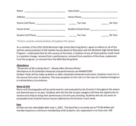 Band Contract Template 14 Sles Exles Format Wedding Band Contract Template