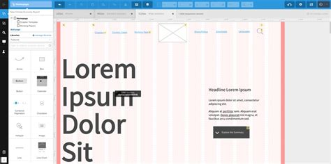 uxpin pattern library 5 fantastic ux prototyping tools part 2 constructive
