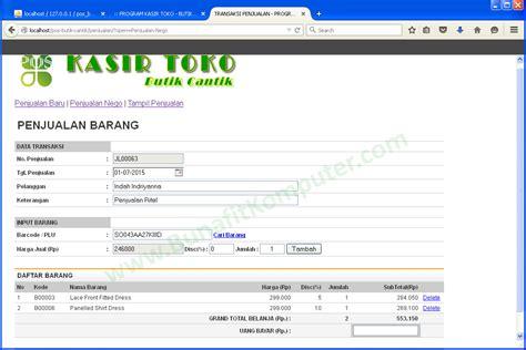 tutorial membuat web toko online dengan php membuat web penjualan dengan php dan mysql membuat program