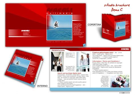 Layout Brochure Aziendale | studio brochure pieghevole con varianti stilistiche per