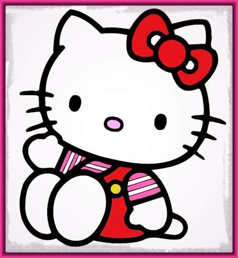 imagenes de kitty para imprimir a color dibujos de hello kitty con color muy originales imagenes
