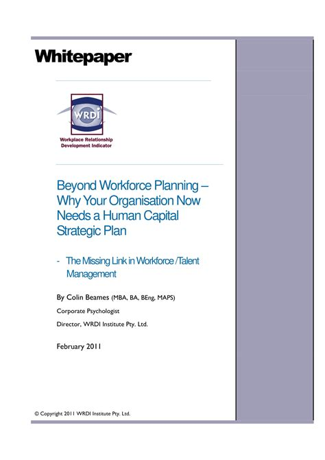 human capital strategic plan template 14 exles of workforce planning templates pdf