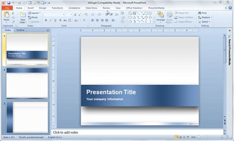 powerpoint 2010 template powerpoint templates free for microsoft 2010 free