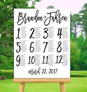 table numbers for wedding reception templates 25 best ideas about table seating chart on