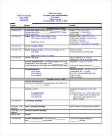 business travel template itinerary sle for a business trip