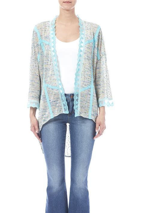 7 Fab Retro Tops By Nick Mo by Nick Mo Teal Open Kimono From Pittsburgh By The Vintage