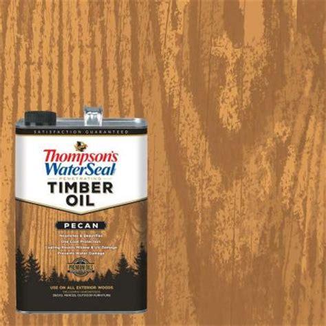 thompsons waterseal  gal pecan penetrating timber oil