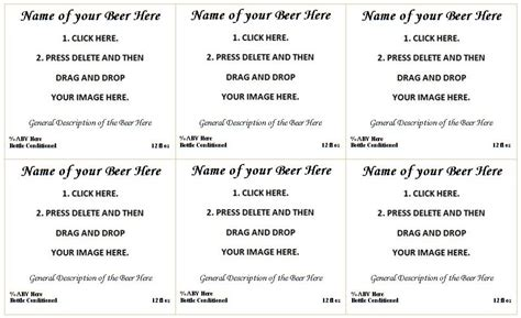 How To Make Beer Labels Beer Syndicate 22 Oz Label Template