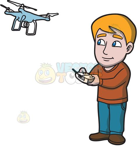 drone with a a hobbyist flying his new drone with a remote