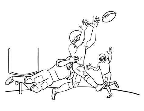 Football Game Coloring Page   pinterest discover and save creative ideas