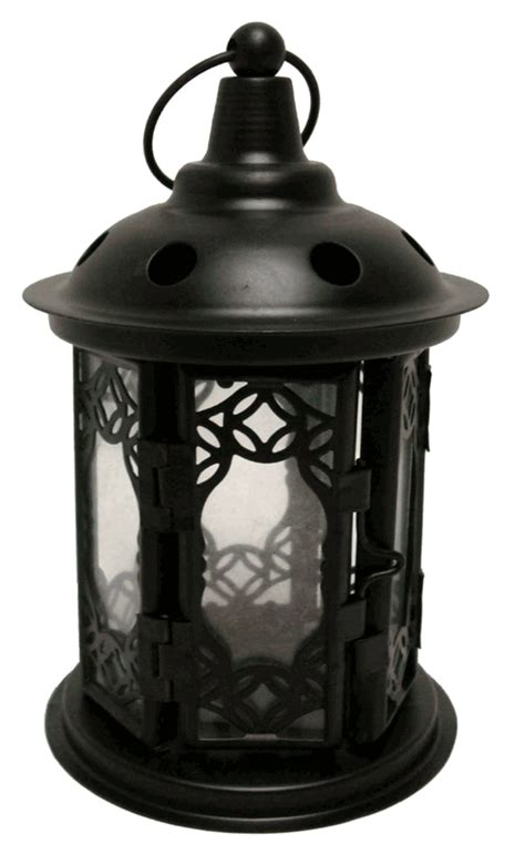 decorative circle black candle lantern 6 25 quot height
