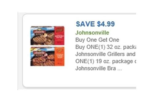 free printable johnsonville brats coupons