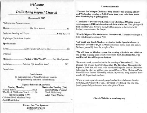 church bulletin insert template candlelight service clip wesharepics