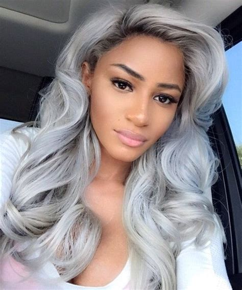 weave with grey highlights natural hair style pictures follow me grey and indian