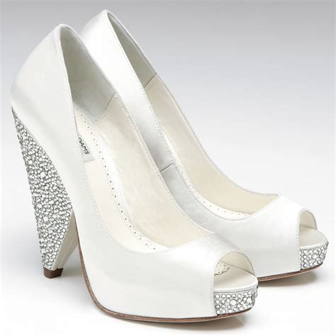 White Wedding Shoes by Satin White Wedding Shoes Ideal Weddings