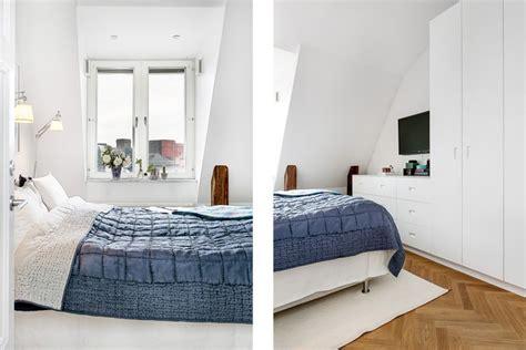schlafzimmer mit parkettboden 55 dachschr 228 ge ideen m 246 bel geschickt im raum platzieren