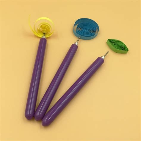 Quilling Paper Import 3 pcs set paper quilling tools origami diy 2 assorted