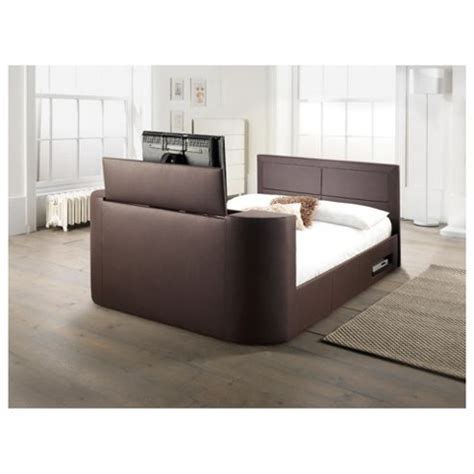 bed frames with tv lifts buy gas lift tv bed frame brown from our