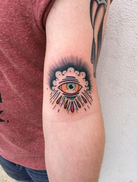 traditional cloud tattoo riedl traditional color eye in clouds mike