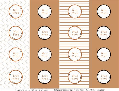 printable dessert labels free printables allergy dessert tags from lollipops