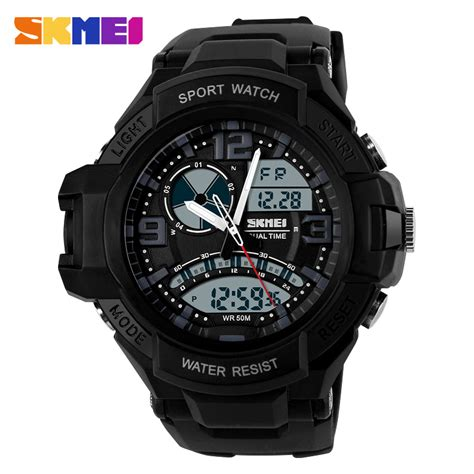 Skmei Sport Analog Led Water Resistant Ad1148 Jam Tangan skmei jam tangan analog digital pria ad1017 black jakartanotebook