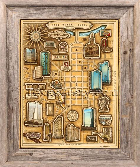 home decor fort worth shop fort worth map framed made in texas wall decor