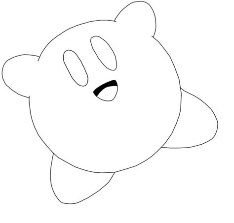 coloring pages of kirby cute kirby coloring pages pictures