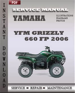 Yamaha Yfm Grizzly 660 Fp 2006 Workshop Factory Service