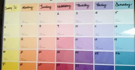 erase calendar using a cheap walmart frame and free paint swatches project inspired by