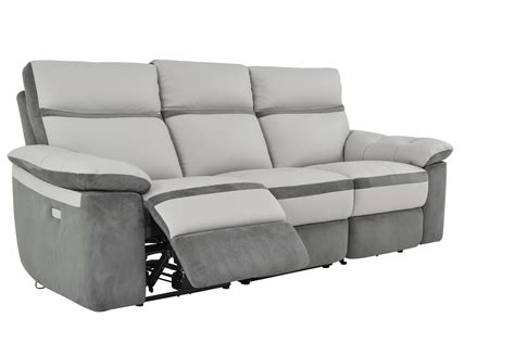 grey leather reclining sofa homelegance otto power reclining sofa top grain