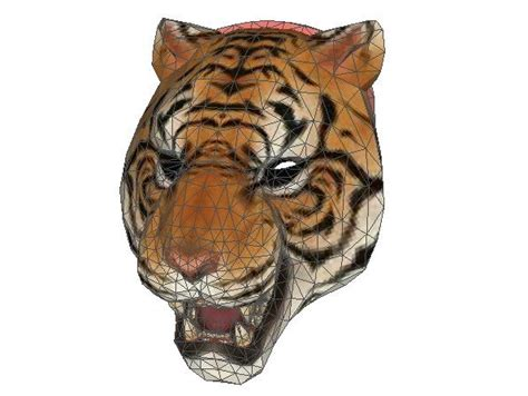 Tiger Papercraft - payday 2 tiger mask tony papercraft free template