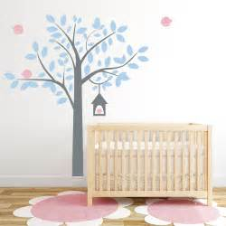 Tree And Bird Wall Stickers Four Bird Tree Wall Decal