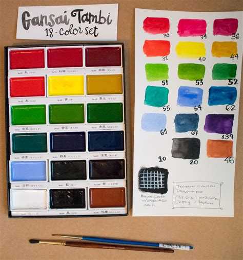 Kuretake Gansai Tambi Watercolor 18 Color the well appointed desk kuretake gansai tambi watercolor palette