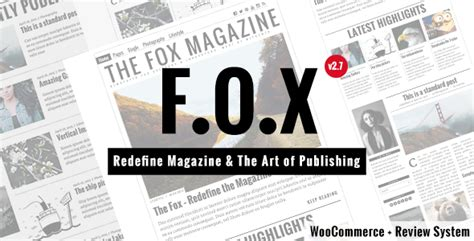 newspaper themes tumblr the fox modern magazine wordpress theme by withemes