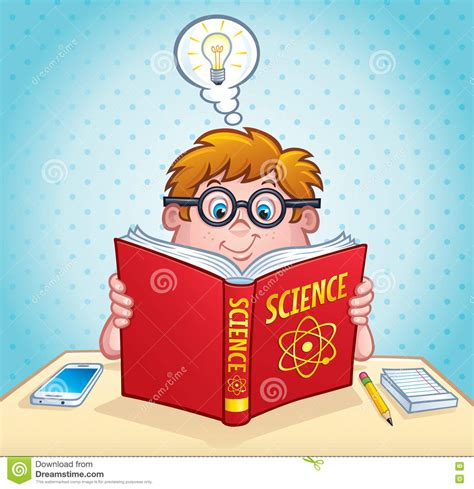 is the smart kid yours books smart kid reading a science book stock photo image 71477646