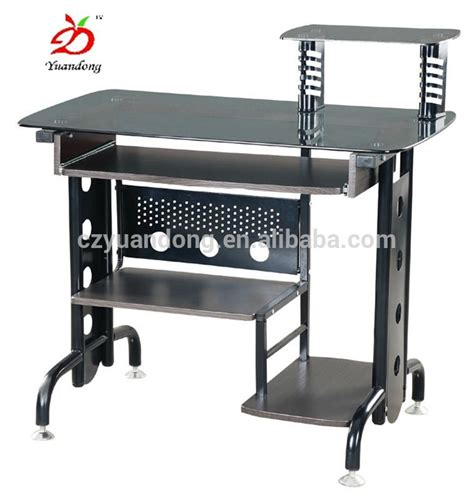 Black Metal Computer Desk Modern Black Metal Office Computer Desk View Computer Desk Yuandong Product Details From