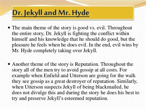 themes of jekyll and hyde frankenstein vs dr jekyll and mr hyde