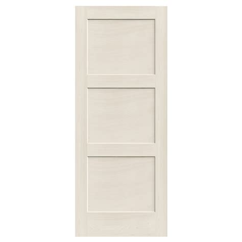 Solid Wood Exterior Doors Lowes Reliabilt 910129 3 Panel Solid Wood Interior Slab Door Lowe S Canada