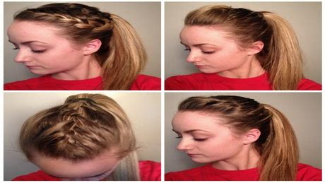 quick and easy hairstyles for pe cute p e hairstyles