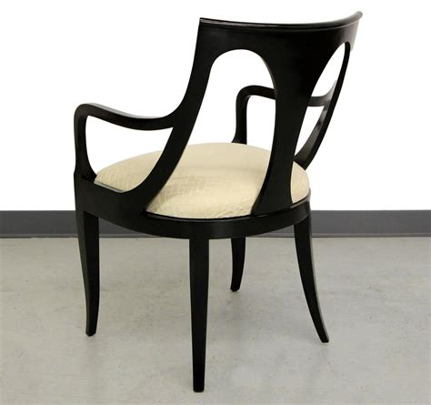 black dining sets with 6 chairs set of six black mid century modern dining chairs by kindel furniture at 1stdibs